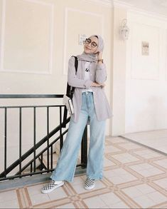 Casual Hijab Outfit, Ootd Hijab, Casual Outfits, Fashion Outfits, Modest Fashion, Street Hijab Fashion, Muslim Fashion, Trendy Fall Outfits, Outfits For Teens