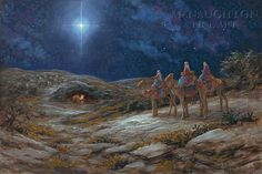 Star Of Bethlehem Lithograph Print by Artist Jon McNaughton Art Pictures Of Christ, Bible Pictures, Temple Pictures, Religious Pictures, Jon Mcnaughton, Christmas Jesus, Christmas Nativity, Merry Christmas, Nativity Star