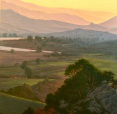 """Northern California Landscape Painting, """"Nicasio Valley View"""", Limited Edition Giclée Print, Marin County, Nicasio, www.terrysauve.com"""