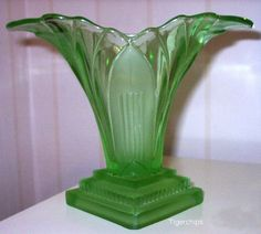 Pressed glass Walther Greta vase