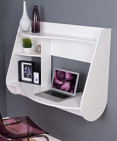 Another great find on #zulily! White Kurv Floating Desk #zulilyfinds
