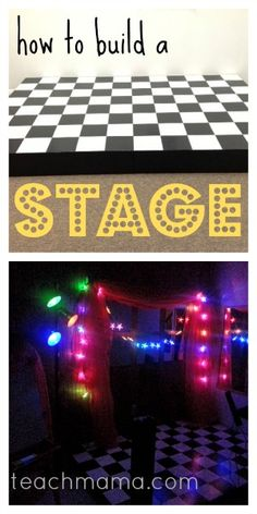an easy-to-build stage for the performers in your family | printable directions #weteach