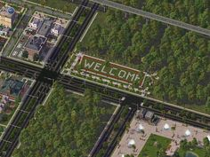 Sim City 4 - The WELCOME is a nice idea!