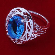 Promoción envío gratis anillo de moda Jewerly anillo mujeres y hombres costoso piedra azul / aotajgaa cazaksga AR375