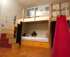 bunkbeds with play area + slide