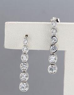 925 silver earrings, cubic zirconia stone, OEM ok, item number: BTER002