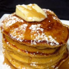 pumpkin pancakes - we made something similar, at least using about the same amount of pumpkin and spices!