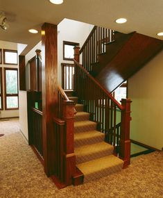 Staircase Design | Commercial Wood Staircase Design by Great Lakes Stair & Millwork. More staircase ideas at Stair.com.
