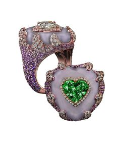 Robert Procop Exceptional Jewels collection 7.06ct Emerald Heart ring.
