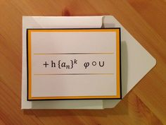 10 a2 kraft greeting card boxes with clear top lid box lids a personal favorite from my etsy shop httpsetsylisting400131963math themed thank you card m4hsunfo