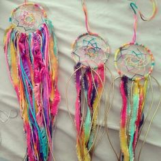 Works in progress. Mini dreamcatcher for your car's rearview mirror
