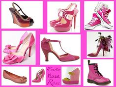 Lots of PINK shoes