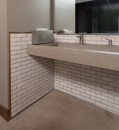 Restaurant Bathroom Gets a Rustic Touch   Installation Gallery   Fireclay Tile