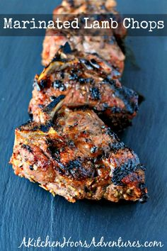 Marinated Lamb Chops The ultimate meat marinade makes the ultimate grilled meat. Marinated Lamb Chops are packed with delicious flavor and perfect for summer grilling. Bbq Lamb Chops, Lamb Chops Marinade, Grilled Lamb Chops, Meat Marinade, Grilled Meat, Lamb Marinade For Bbq, Steak Marinate, Beef Chops, Lamb Chop Recipes