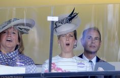 Animated: Sophie's face is a picture as she watches the Jersey Stakes runners battle it ou...
