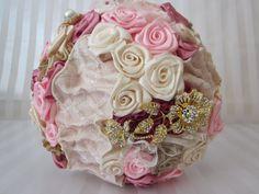 Alternative handmade wedding bouquet