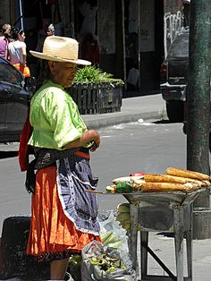 Grilled Corn in Mexico