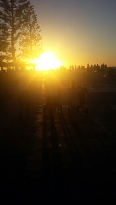 Sunset at Bathers Beach in Fremantle, Western Australia. It was such a beautiful sight....x