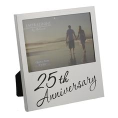 Oaktree Gifts 25th Anniversary Photo Frame 5 x 3.5 -- Click image to review more details. (This is an affiliate link and I receive a commission for the sales)
