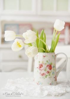 GreenGate Simone white I spring I Frühling I Tulpen I Tulips I Casa di Falcone