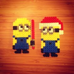 Minions perler beads by j_oldenburg