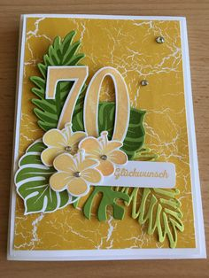 Card Making Kits, Making Ideas, Birthday Blessings, Hibiscus, Leaf Cards, Birthday Cards For Women, Stampin Up Catalog, Birthday Numbers, Embossed Cards