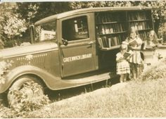 My favorite . . . 3 little girls at the Bookmobile.