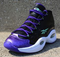 Reebok Question   Black   Purple   Sea