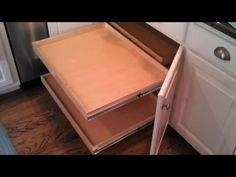 Corner Kitchen Cabinet Storage Ideas use a hinge like this to make a corner cabinet accordion door