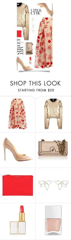 """""""Cocktails"""" by sue-mes ❤ liked on Polyvore featuring Simone Rocha, Yves Saint Laurent, Christian Louboutin, Bottega Veneta, Givenchy, Elizabeth and James, Tom Ford and Nails Inc. #christianlouboutinlipstick #christianlouboutinnails"""