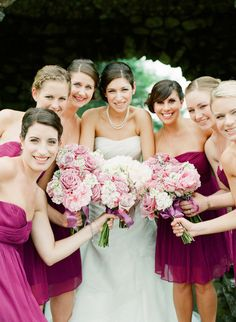 Wine colored bridesmaid dresses look great in Fall and Winter! See them here: http://www.outerinner.com/bridesmaid-dresses-cg-12.html