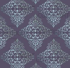 Large WALL DAMASK STENCIL Pattern Faux Mural di Lightsforever