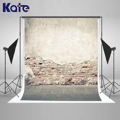 Kate Brick Wall Backdrop Vintage Mottled Wall Naked Baby Background Washable and Wrinkle Free Photography Backdrop for Studio