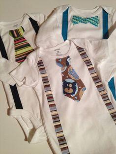 Tie and Suspenders Onesie by brikaydesigns on Etsy, $15.99