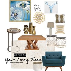 Refresh Your Living Room by tori-toth-arena on Polyvore featuring interior, interiors, interior design, home, home decor, interior decorating, Steel | Lark, Pier 1 Imports, J. Hunt and Dot & Bo