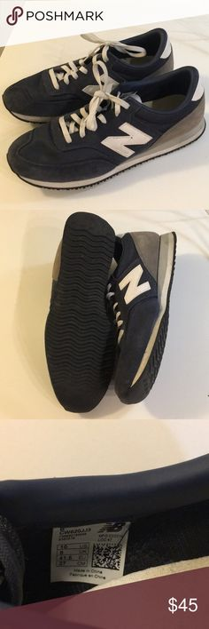 J.Crew New Balance Vintage Looking Sneakers Worn once and in perfect condition. Fits like a true 10 J. Crew Shoes Sneakers