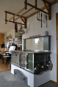 Tischherd - KTH_38 - Kloss Wohnherde GmbH Home, House Styles, Wood Burning Cook Stove, Wood Burner, Interior, Kitchen, Old Kitchen, Vintage Door Hardware, Living Spaces