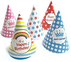 25 pcs Birthday Party Hat(Includes 5 Different Patterns) ** You can get more details by clicking on the image.