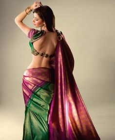 Indian Sari with a beautifully detailed back