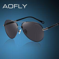 check discount aofly classic sunglasses men polarized sunglasses male sun glasses brand designer #pilot #sunglasses