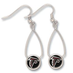 Atlanta Falcons Dangle Earrings - get it at ENTHOOZIES 3 Cherry St Walden NY