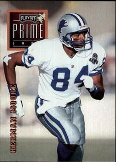 1996 Playoff Prime #39 Herman Moore - Detroit Lions.