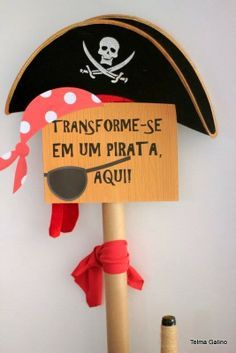 Mães e Festeiras Pirate Birthday, Pirate Theme, Third Birthday, Pirate Kids, Party Decoration, Ideas Para Fiestas, Happy B Day, Holidays And Events, Peter Pan
