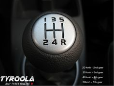 Shifting gears properly is not only super simple, it is also energy efficient and can reduce fuel consumption enourmeously. Remember the rule of thumb. Buy Tires, Rule Of Thumb, A Gear, Safety Tips, Traveling By Yourself, Super Simple, Guy