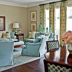 Living room colors curtains