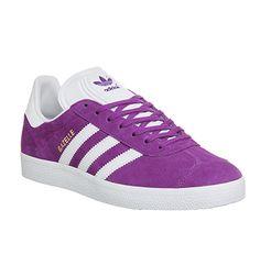 Adidas Gazelle Shock Purple White Gold Metallic - His trainers