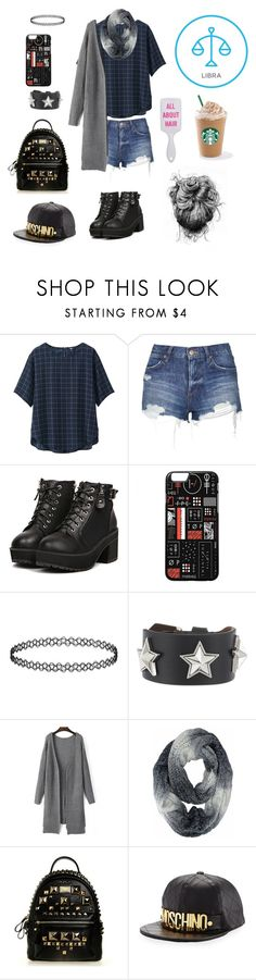 """Libra"" by liligum ❤ liked on Polyvore featuring Uniqlo, Topshop, Givenchy and Moschino"