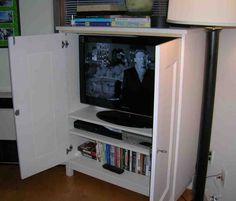Corner TV Armoire With Doors