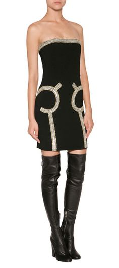 THE LOOK | Designer look with 'Dress in Black' from Moschino | Luxury fashion online | STYLEBOP.com