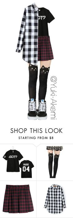 """""""GOT7 Outfit"""" by yuki-akemi ❤ liked on Polyvore featuring Bambam, H&M and Vans"""